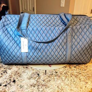 Vera Bradley Large Duffel in Denim